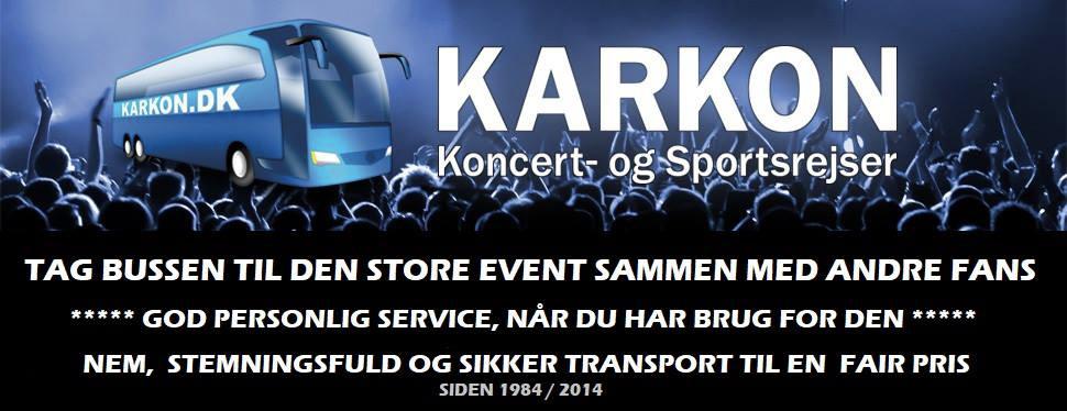 banner karkon koncert- og sportsrejser